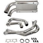 Chrome Double Barrel X-Pipe Full Exhaust System - 08-311-C