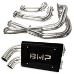 Chrome Double Barrel X-Pipe Full Exhaust System - 08-312-C