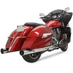 Chrome DNT 4 in. Slip On Mufflers - 6C7DNT6