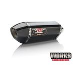 Stainless/Carbon Fiber Works Finish R-77 Race Series Exhaust System w/ Carbon Fiber End Cap - 13990A0220