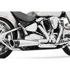 Chrome 4-1/2 in. Combat Slip-On Exhaust - MH00018