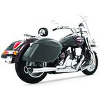 Chrome Combat Series Exhaust System w/Black Tip - MS00008