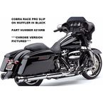 Black Race-Pro 4 1/2 in. Slip-On Mufflers - 6216RB