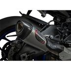 Street Alpha T Series Stainless/Carbon Fiber Works Finish Slip-On Muffler - 13141BP520