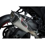 Street Alpha T Stainless/Carbon Fiber Series Works Finish Slip-On Muffler - 11181BP520