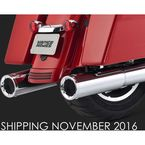 Chrome 4 1/2 in. Hi-Output Slip-On Mufflers - 16463