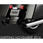 Chrome Round Twin Slash Slip-On Mufflers - 16672
