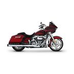 Chrome 4 in. Slip-On Mufflers w/Black End Caps - 500-0106