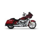 Black 4 in. Slip-On Mufflers w/ Chrome End Caps - 500-0107C