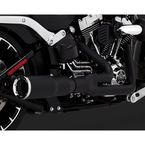 Black Hi-Output 2-into-1 Short Exhaust System - 46545