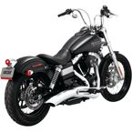 Chrome Big Radius 2-into-1 Exhaust System - 28029