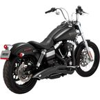 Matte Black Ceramic Big Radius 2-into-1 Exhaust System - 48029