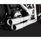Chrome Mini-Grenades 2-Into-2 Exhaust System  - 16880