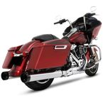Chrome 4.5 in. Motopro 45 Slip-On Mufflers w/Black Tradition End Caps - 500-0108T