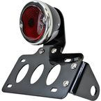Black 33 Ford Taillight/License Plate Bracket Kit w/Red Lens - 107-0026