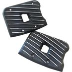 Black Cut Ribsters Rocker Box Covers - RC13/R/BC