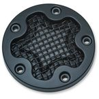 Satin Black Mesh Points Cover - 6521