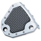 Chrome Mesh Rear Caliper Cover - 6552