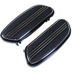 Black Speed-Line Driver Floorboards - 24002