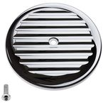 Chrome Finned VT Air Cleaner Cover - 02-220-3