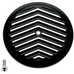 Black/Silver V-Fin VT Air Cleaner Cover - 02-224-2