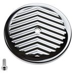 Chrome V-Fin VT Air Cleaner Cover - 02-224-3