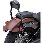 Black Detachable Mini Backrest Kit - 602-2021B