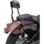 Black 14 in. Square Short Detachable Backrest Kit - 602-2049B