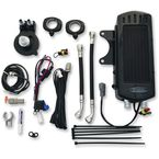 Gloss Black Side Mount Dual Fan Assisted Oil Cooler Kit - SMSP-1G