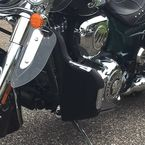 Black Highway Bar Rain Guards w/Ultra Pockets - LA-7338-14SS