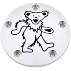 Chrome/Black Grateful Dead Dancing Bear #2 Timing Cover - GD042-04BC
