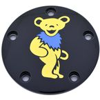 Black Grateful Dead Dancing Bear #3 Twin Cam Timing Cover in Full Color - GD043-04BG-FC