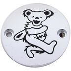 Chrome/Black Grateful Dead Dancing Bear #4 Timing Cover - GD044-63BC