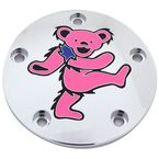 Chrome Grateful Dead Dancing Bear #5 Twin Cam Timing Cover in Full Color - 50-01610-22