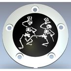 Chrome/Black Grateful Dead Dancing Skeletons Timing Cover - GD03-04BC