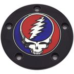 Black Grateful Dead Steal Your Face Twin Cam Timing Cover in Full Color - GD01-04BG FC