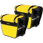 Yellow/Black Deluxe Adventure Motorcycle Dry Saddlebags - SE-3050-YEL