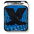 Black Streetbike Volcano Traction Pad Kit - 55-10-0103B