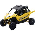 Yellow Yamaha YXZ 1000R UTV 1:18 Scale Die Cast Model - 57813B