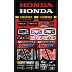 Geico Honda Decal Sheet - 70009-001-01