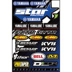Star Yamaha Decal Sheet - 40-50-116