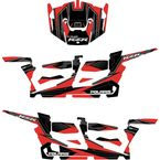 Red/Black RZR Graphic Kit - 20-60-117