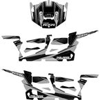 Silver/Black RZR Graphic Kit - 20-60-119