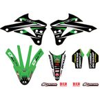 Kawasaki Team Green Graphics Trim Kit - 10-20-524