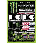 Universal Monster Energy Kawasaki Team Decal Sheet - 40-20-116