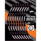 21 in. Front KTM Logo Rim Decal  - 40-80-204