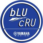 4 in. Blue Yamaha Blu Cru Decal Sheet  - 40-50-200