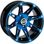 Rear Blue/Black 387X 14x8 Wheel - 0230-0810