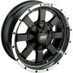 Machined Black 17 x 7  Front/Rear 420 X Wheel - 0230-0845