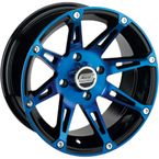 Front Blue 387X 12 x 7 Wheel - 387MO127136BWB4